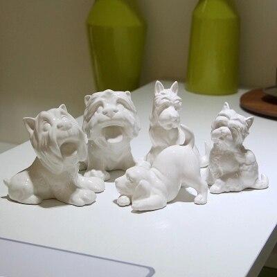 Kreative Kleine Weiße Keramik Hund Figuren Für Hauptdekorationen Kreative  Keramik Idee Geschenk Nette Hund Statue Ornamente In Kreative Kleine Weiße  Keramik ...