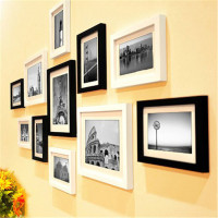 Frame Canvas Wood White Desktop Letter Box Love Photo Frame Live Photo Frame Decoration Box Decoration