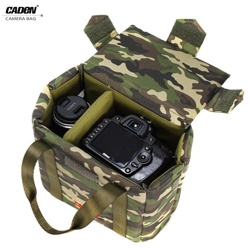 CADeN Camera insert Portable Bag Digital Photo Insert Strong Case Camouflage Hard Bag for Canon Nikon Sony Pentax camera box