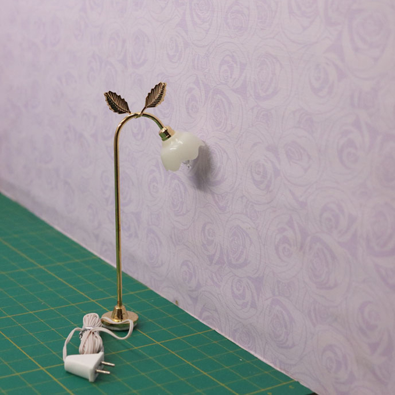 G07-X310 children baby gift Toy 1:12 Dollhouse mini Furniture Miniature rement Doll accessories floor lamp 7026 1pcs