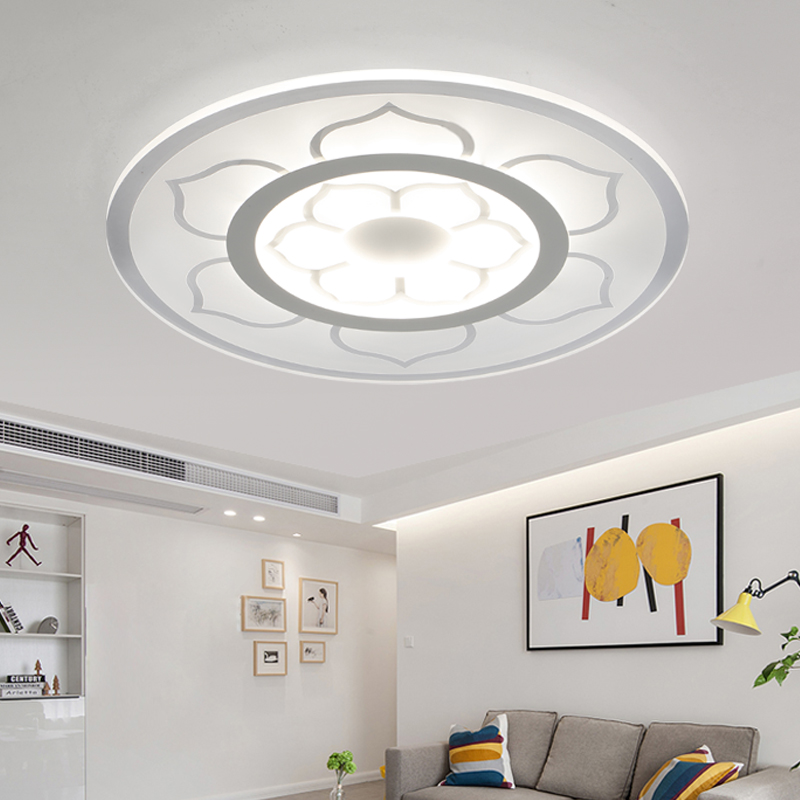 ФОТО Modern Acryl Flower Lampshade LED Ceiling Lights for Living Room Bedroom Lamp lamparas de techo abajur Ceiling Lamp Fixtures