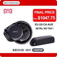 BBSHD 1000W bafang BBS03 HD 1000W moteur electrique velo 48V ebike battery 44T/46T 840WH/48v17.5ah samsung 35E cell EU US NO Tax