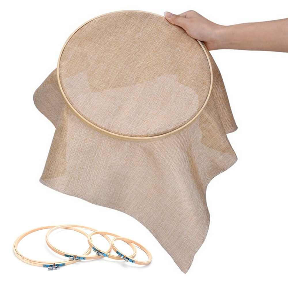 Practical 13-26cmHand DIY Needlecraft Household Sewing Tool Cross Stitch Machine Bamboo Frame Embroidery Hoop Ring Round
