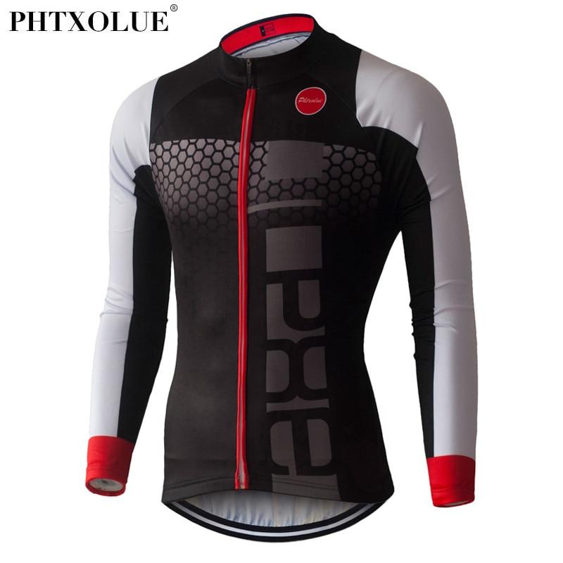 Phtxolue Pro Cycling Jerseys 2018 Long Sleeve Mountain Bike Clothing Wear Ropa Ciclismo Summer Cycling Clothing Mens in Cycling Jerseys from Sports Entertainment