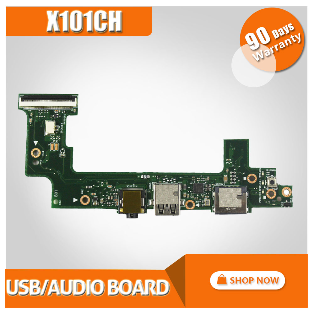 Original For ASUS X101 X101H X101CH Wired network card interface board USB small board audio board Tested work well