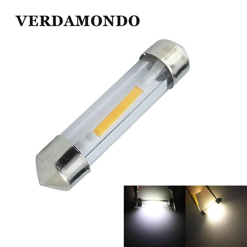 LED Car License Plate Reading Dome Festoon Map Lamp 31mm 36mm 39mm 41mm Auto Bulbs Filiform COB Styling Lights White For DC 12V
