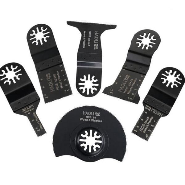 6pcs set Wood working Oscillating Multi font b tools b font Saw Blades Accessories fit for