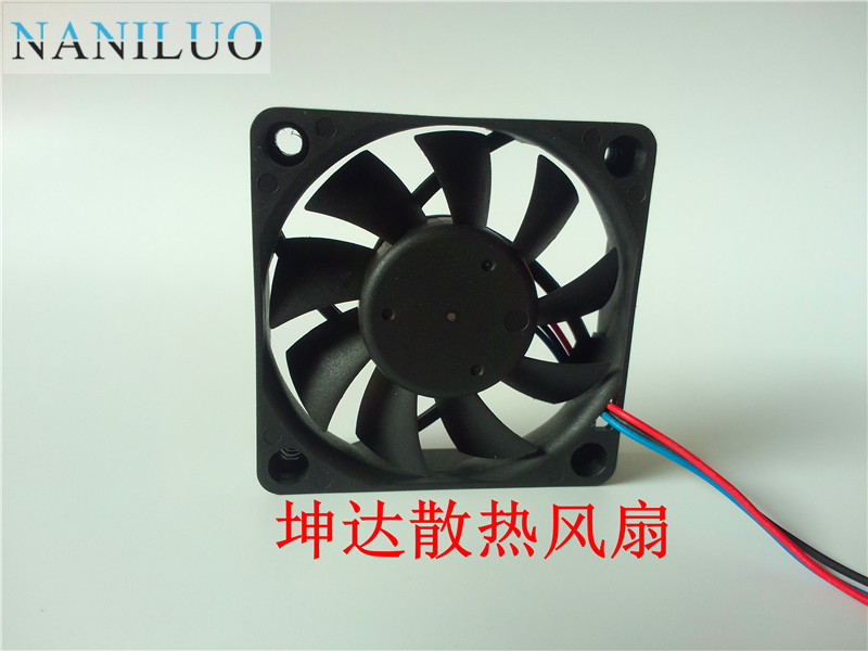 NANILUO For AFB0605HC 6CM <font><b>60MM</b></font> 6*6*1.5CM 60*60*15MM Cooling <font><b>fan</b></font> 6015 <font><b>5V</b></font> 0.40A Axial <font><b>fan</b></font> Three-wire image