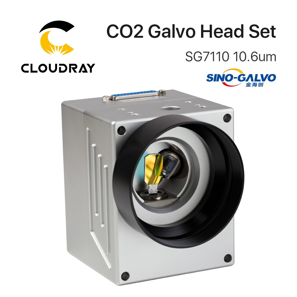 Cloudray 10.6um 10600nm CO2 Laser Scanning Galvo Head SG7110 Input Aperture10mm Galvanometer Scanner With Power Supply Set