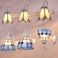 glass Tiffany wall lamps mirror light Mediterranean American Pastoral simple creative living room cabinet lighting retro makeup
