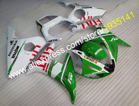 Hot Sales,For Yamaha YZFR6 YZF R6 2005 05 YZF600 green white body YZF R6 YZF 600 Motorbike fairing YZF 600 (Injection molding)