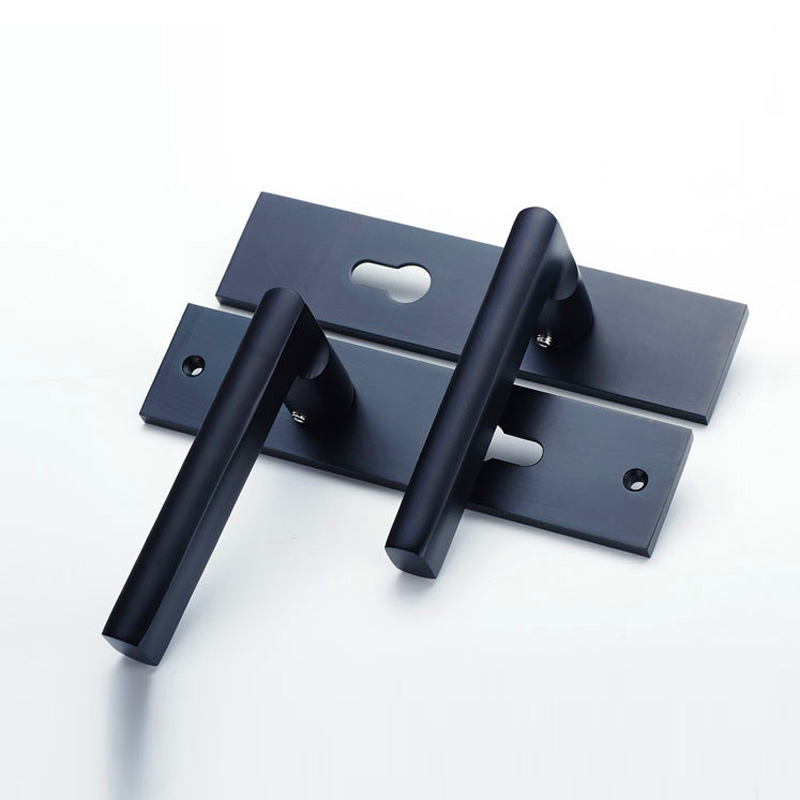 Interior Door Lock Types black integral type security anti theft door locks aluminum handle