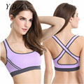 Sexy Strappy Bra Crop Ladies Women Crop Tops Underwear Cross Strappy Bra for Fitness Push Up Women Vest B5005
