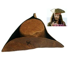 Adults Halloween Party Hat Cosplay Costume Jack Sparrow Pirates  Caribbean captain Pirate Wig pirate B-2916