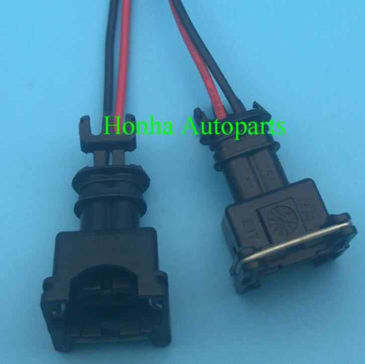 Free shipping 10/20/50/100 pcs Fuel Injector Wire Harness Connector Plug  Clips For Bosch EV1 OBD1 with 15cm 18AWG wire    - AliExpresswww.aliexpress.com