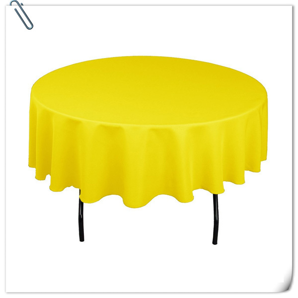 Marvelous Factory Price!!!!! Wholesale Cheap Polyester 70inch Table Cloths 20pcs  Lemon Yellow