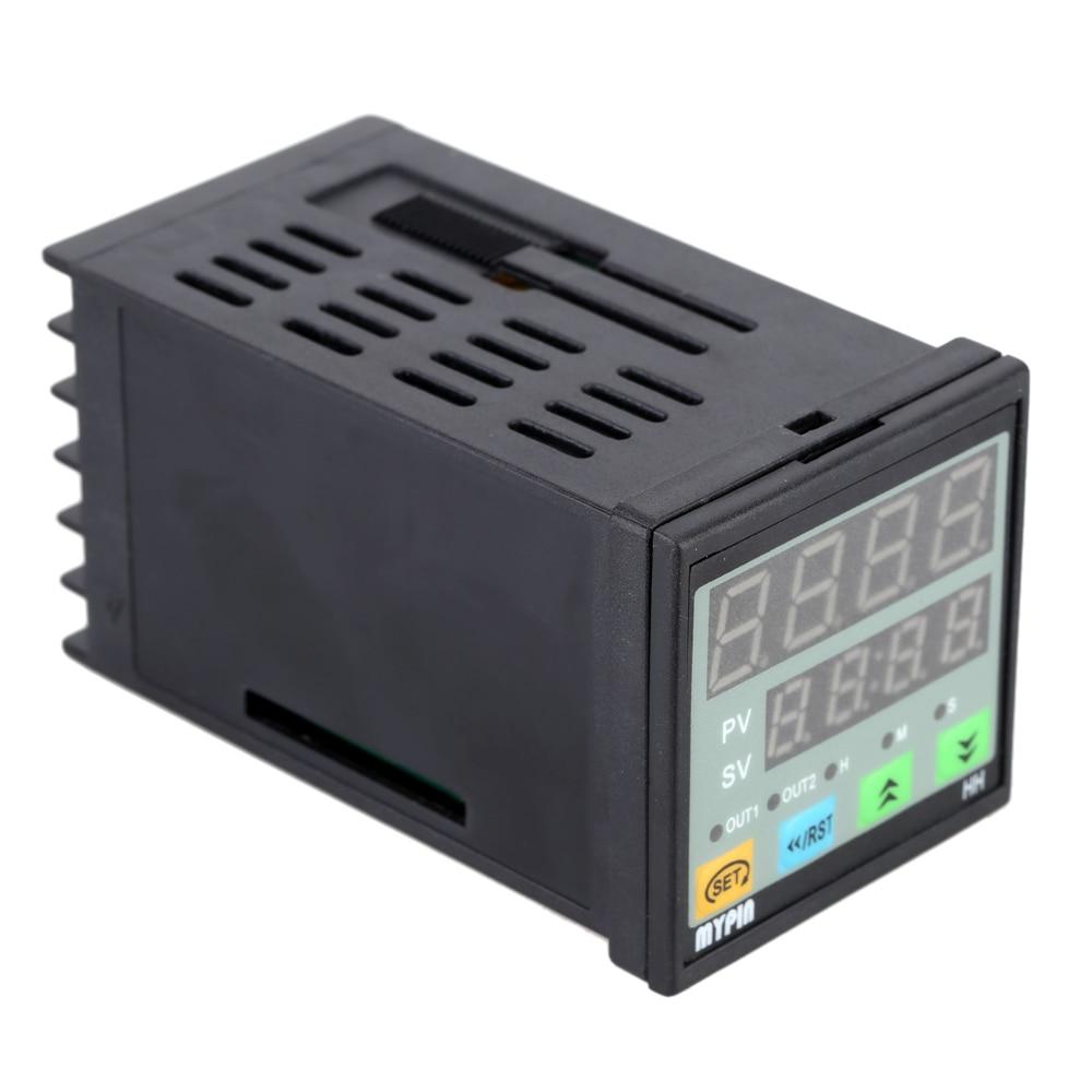 90-260V AC/DC Digital Timer 4-Digit Display Alarm Clock Countdown Time Counter Chronograph Relay Output 1 Alarm