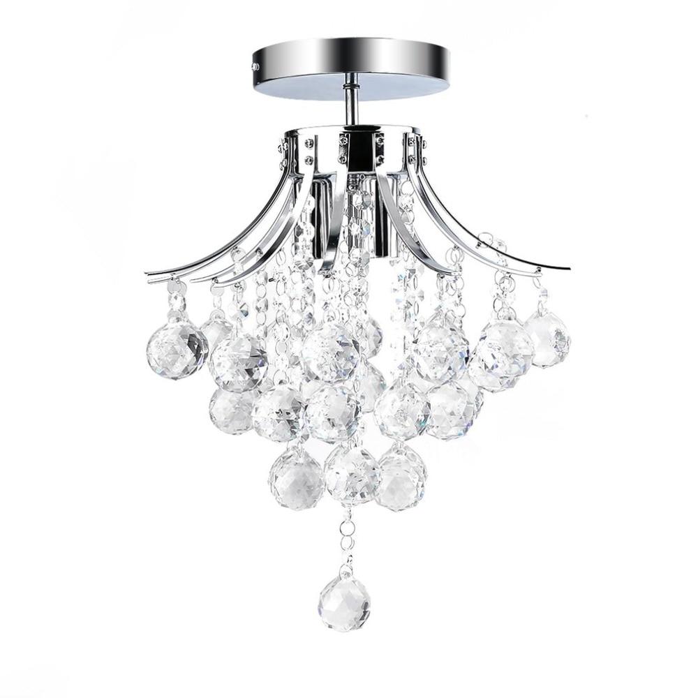 30cm Elegant Crystal Ceiling Lights Modern Lamp Modern Light Home Decorative Lamp Portable Bedroom Fixture Lighting luxury big crystal modern ceiling light lamp lighting fixture