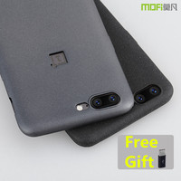 Oneplus 5 Case Cover Gray Matte MOFi Original Soft Back Cover Oneplus 5 Cover Black Capa