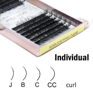 Image 5 - 15 fällen/lot CC Curl Zilien natur individuelle wimpern extensions bilden werkzeuge faux premium nerz falsche wimpern luxuriöse box
