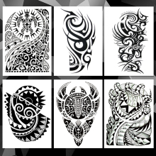 Waterproof Temporary Tattoo Sticker Arm Totem Tribe pattern tattoo Water Transfer flame power style body art fake tattoo for men