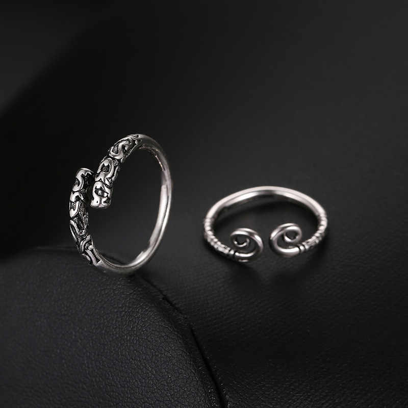 El mono King Bar anillos de moda único gótico estilo chino sol Wukong Retro mujeres hombres abierto dedo anillos joyería ajustable