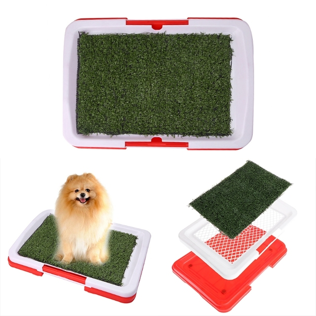 New Pet Dog Potty Toilet Urinary Trainer Grass Mat Pad Patch ...