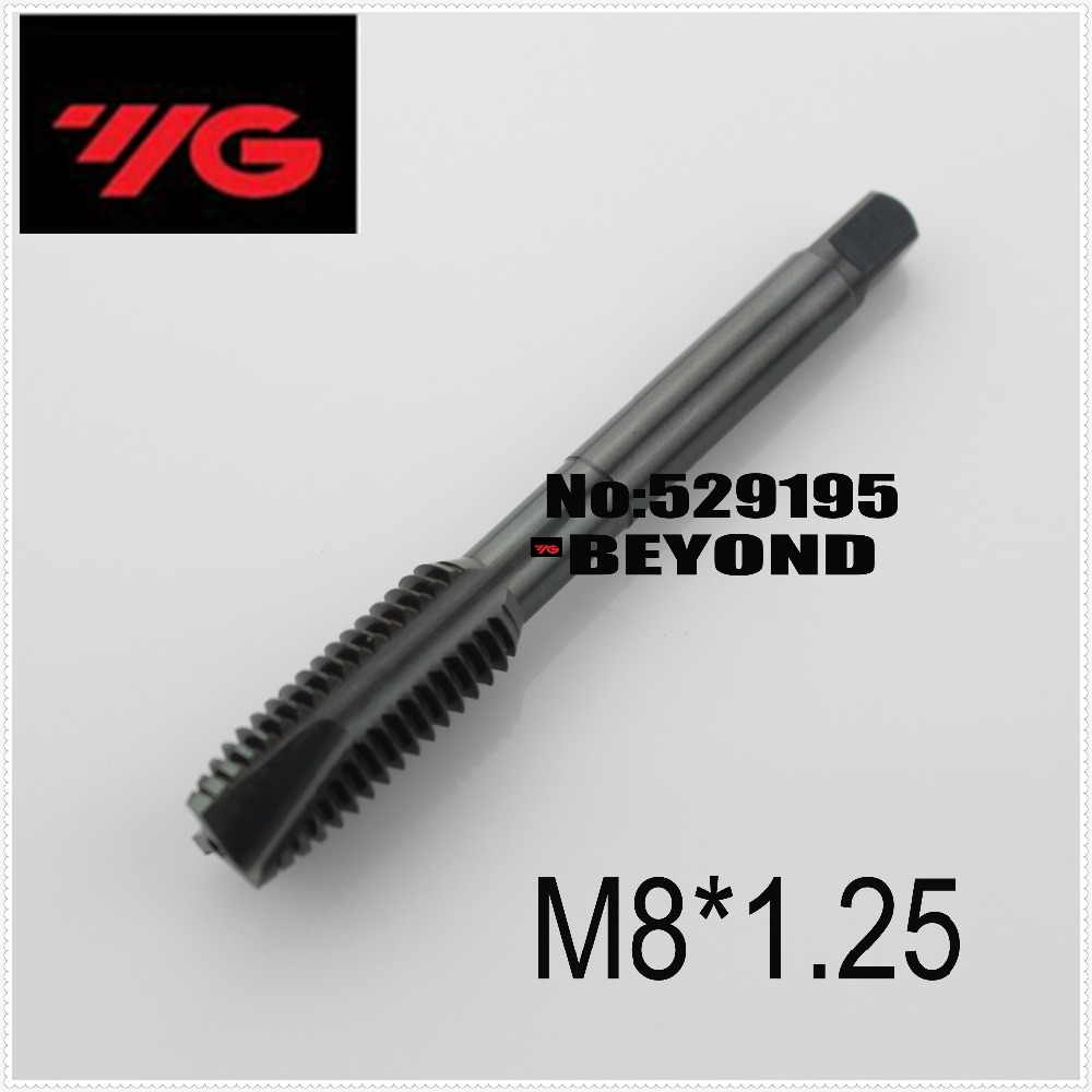 M8*1.25 T1022 Korea Yg-1 For Suitable For Carbon Steel And Alloy Through-hole Machining, Excellent Chip