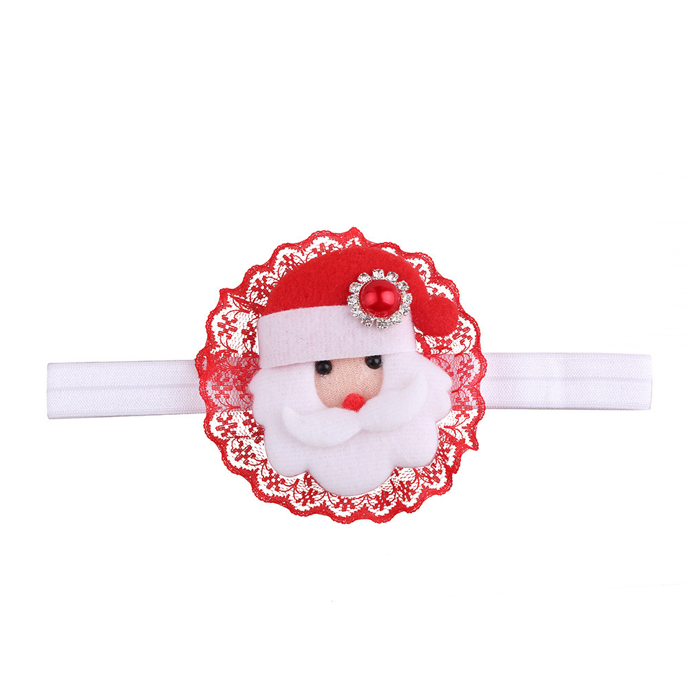 New 2019 cute lovely kid children Merry Christmas Party Headwear Girls Infant Hair Band Bow Headbands Flower Hair Accessories #W