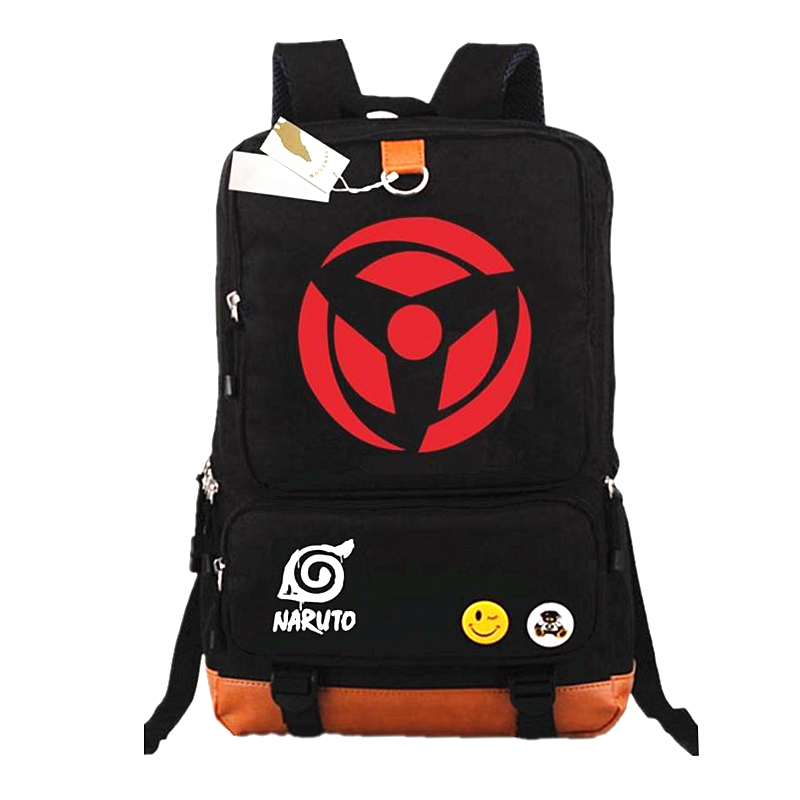 Anime Naruto Write Round eyes Backpack Mochilas Teenagers Men Women's Student School Bags travel Laptop Bag Casual Backpacks voyjoy t 530 travel bag backpack men high capacity 15 inch laptop notebook mochila waterproof for school teenagers students