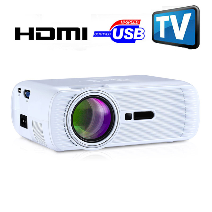 2016 ge80 3d led mini projector 1080p full hd home theater for Best portable projector 2016