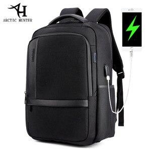 Image 1 - ARCTIC HUNTER 15.6 inç su geçirmez USB profesyonel Laptop erkek sırt çantası rahat dizüstü erkek spor seyahat çantası erkekler için