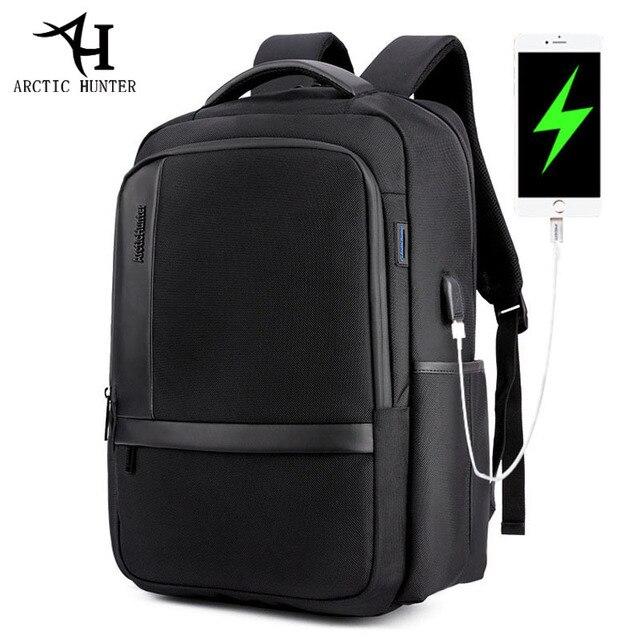 ARCTIC HUNTER 15.6 inç su geçirmez USB profesyonel Laptop erkek sırt çantası rahat dizüstü erkek spor seyahat çantası erkekler için