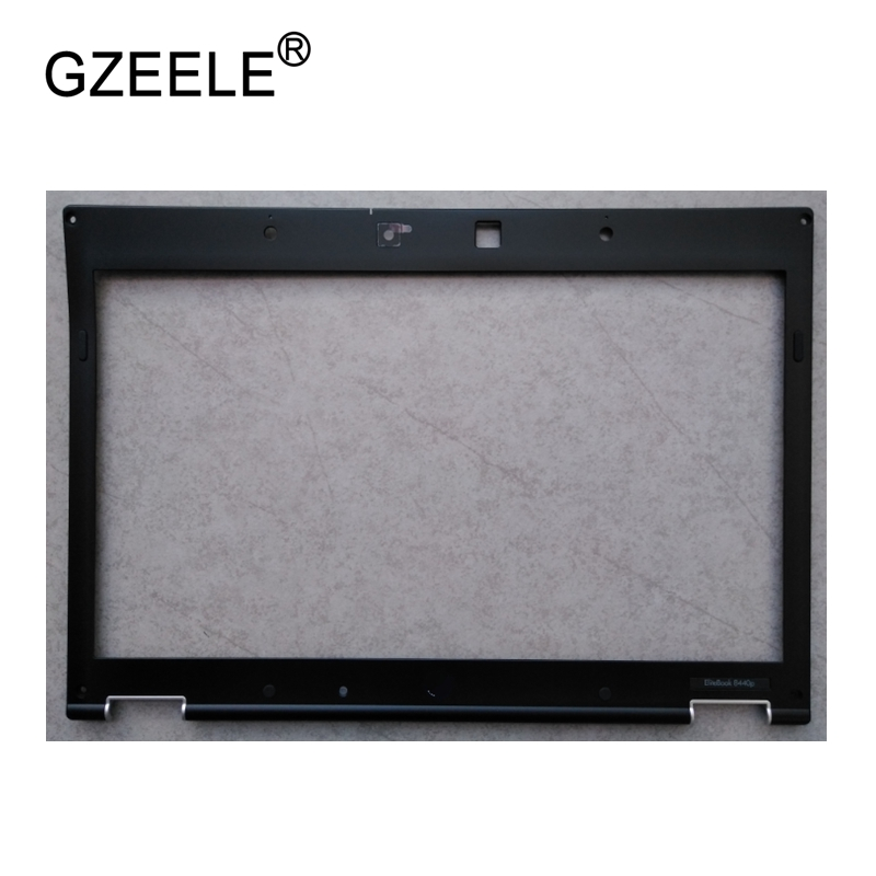 GZEELE New Laptop LCD Front Bezel Cover For HP Elitebook 8440P 8440 P 8440W LED Screen Cover Front Frame 599224-001 594757-001 gzeele hot selling english keyboard for hp elitebook 8440p 8440w 8440 us laptop keyboard black without point stick