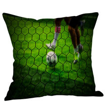 Football Printing Linen Bed Pillow Cover Home Pillowcase Brand New Comfortable High Quality Droship 45cm*45cm 10JUL 26(China)