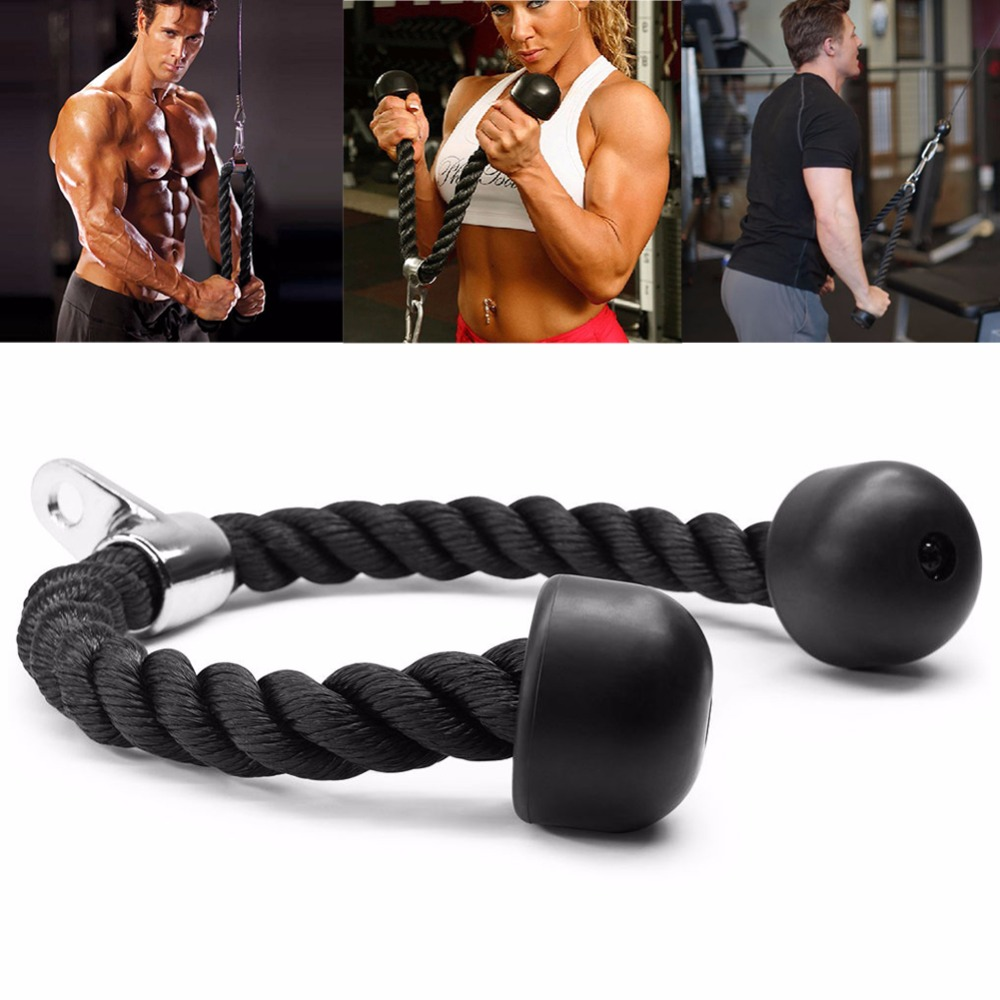 Gym Exercise Bicep Training Pull Rope Triceps Fitness Exercise Body Building Workout Push Pull Down Cord Equipment вытяжка каминная shindo 60 b bg 4etc черный