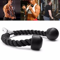 Gym Exercise Bicep Training Pull Rope Triceps Fitness Exercise Body Building Workout Push Pull Down Cord Equipment