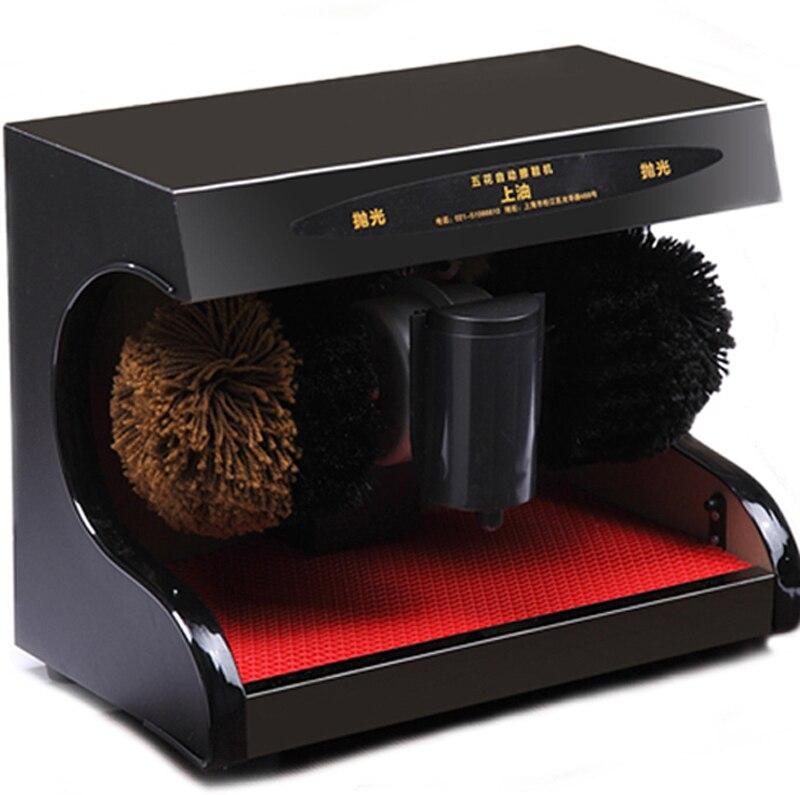 Automatique semelle de chaussure machine de nettoyage pour la maison bureau Auto-réaction recherche Solide matériau bois 105 w chaussures de polissage machine