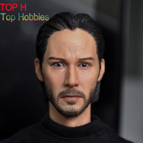 "1/6 Head Sculpt Male Figure Head Keanu Reeves John Wick Doll Lifelike Fit 12"" Action Figure Collection Toys Gift KUMIK15-5"