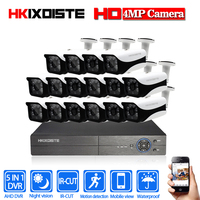 New Full HD 16CH AHD 4MP Home Outdoor CCTV Camera System 16Channel video Surveillance security camera kit 16ch 4MP AHD DVR