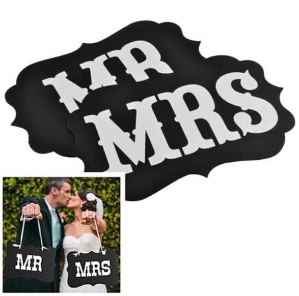 1 Комплект Mr & Mrs Лист Гарланд Банер - Святкові та вечірні предмети