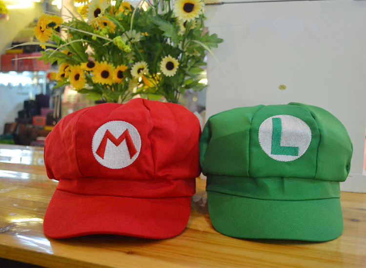 2018 NEW Super Mario bros. Mary Octagonal Cap & Sunbonnet Adult Hat Cosplay Wholesale Price