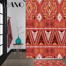 IBANO Mandala Stripe Shower Curtain Waterproof Polyester Fabric 180x180cm Bath 40x60cm Mat For The Bathroom Curtain.