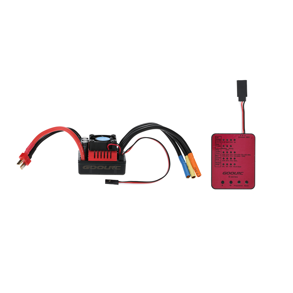 GoolRC S 120A Brushless ESC with 6 1V 3A SBEC Programming Card for 1 8 RC