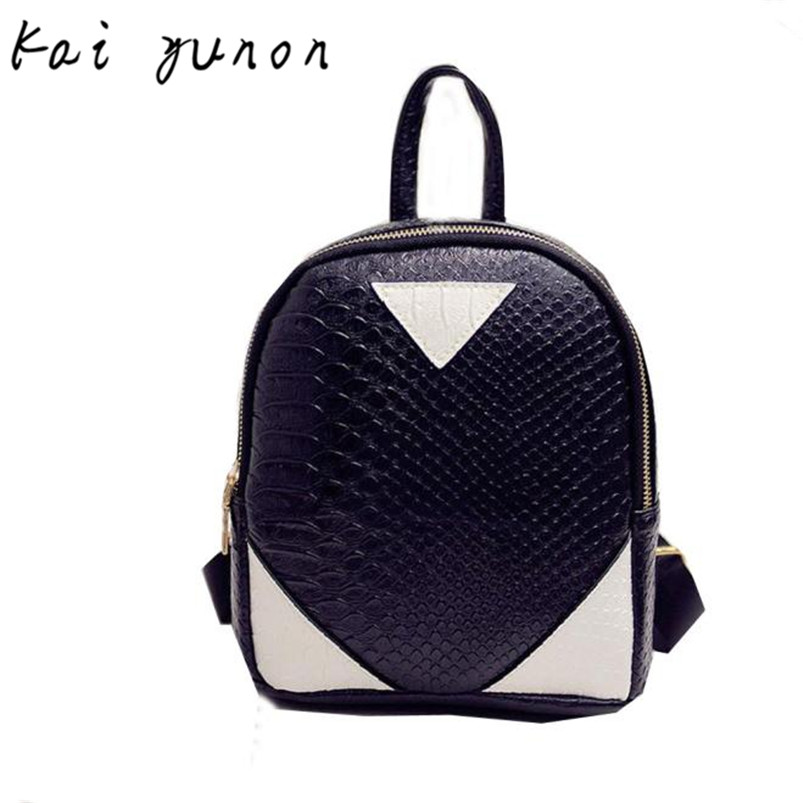kai yunon Women Canvas Rucksack concise Serpentine Backpack font b School b font Book Shoulder font