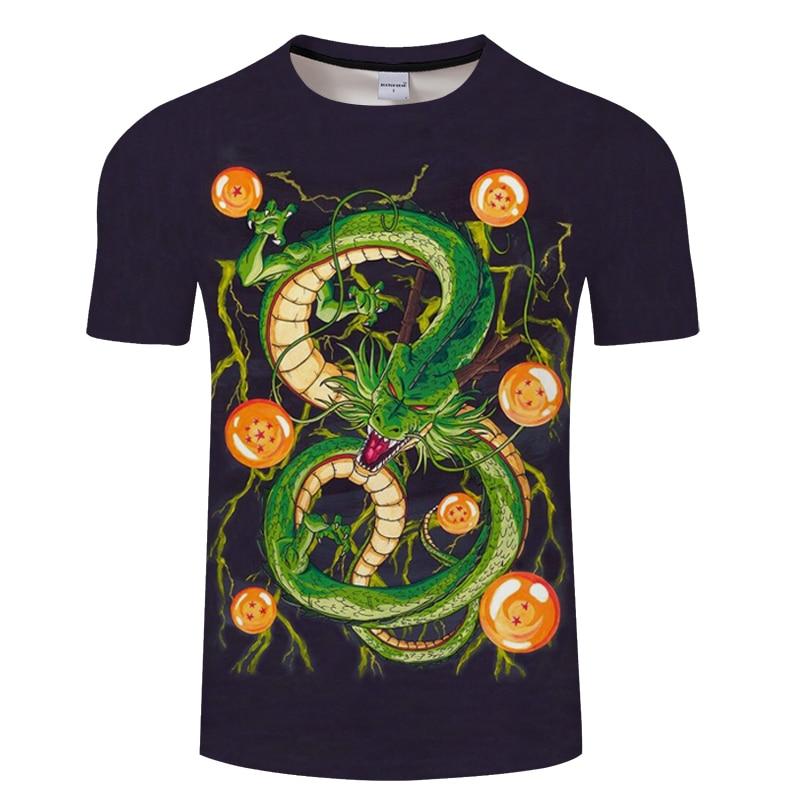 2018 New Dragon Ball Z T Shirts Men Super Saiyan Ultra Instinct Kids Son Goku Vegeta Printed Cartoon T-Shirt Top Tees