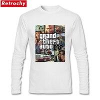 Grand Theft Auto IV T-Shirts for Men Cổ Điển Thời Trang Dài tay áo Vòng Neck Men T Shirts Bán Buôn Giá Bán Chính Thức trang phục