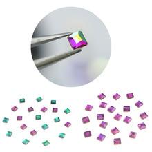 20PCs 3D Nail Art Decorations Square Designs Glass Rhinestones For DIY Manicure Stones Accessories 3mm