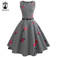 2018 Summer Retro Pin Up Dresses 50s 60s Rockabilly Robe Floral Print Dress Vintage Women feminino Vestidos Swing dresses