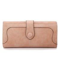 2014 New Korean Style Long Women Wallet Messaenger Bags Handbag Retro Dull Polish Purse Drop Mult